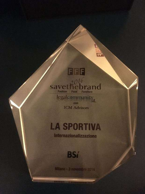 A La Sportiva il premio Save the Brand