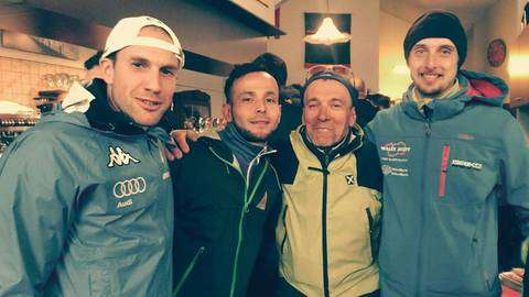 Benedetto, Sanchez e Mersi con il DS Bosonetto dell'Atletica Monterosa a Trailaghi (foto fb Sanchez)