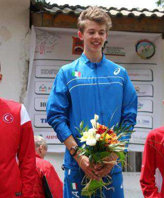 Daniel Pattis il vincitore della Youth Cup in Bulgaria (foto fidal.it)