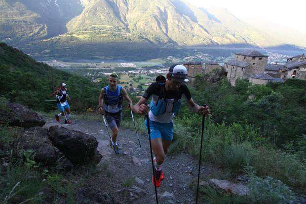Gabioud, Collè e Cavallo al Quart Trail des Alpages (foto acmediapress)