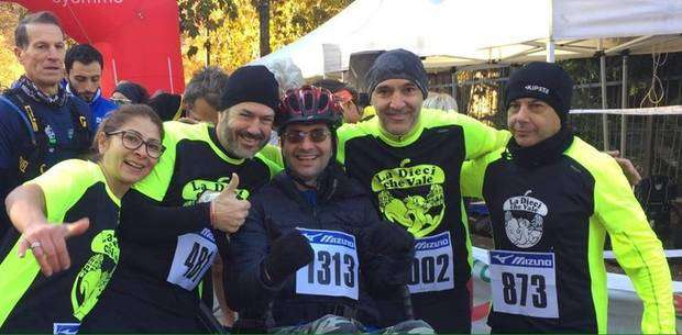 Gianfranco Mogliotti con i Running Angels