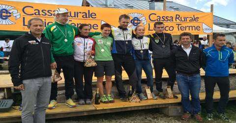 Il podio del Campionato Italiano Orienteering Long (foto fiso.it)