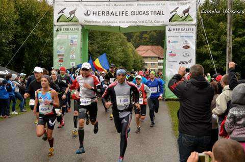 Iulia Gainariu all'Herbalife Ciucas Trail