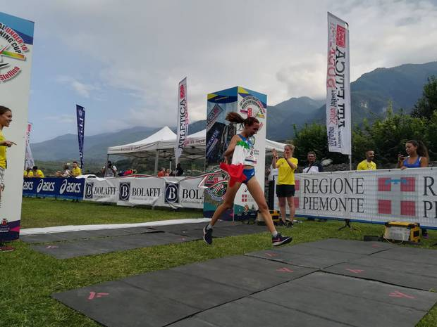 Katja Pattis vince l'International U18 Mountain Running Cup (foto Damiano Benedetto)