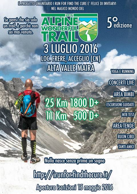 Locandina Alpine Wonderful Trail 2016
