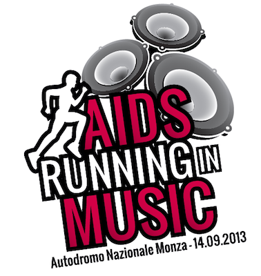 Logo Aids Running in Music 2014