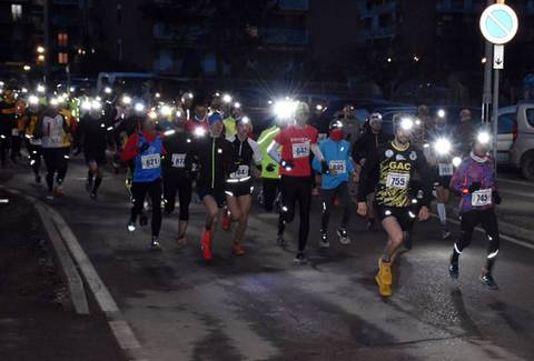 Partenza Ysangarda Night Trail (foto Bolla)