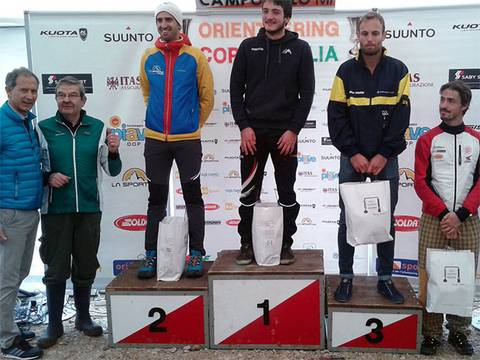 Podio maschile Coppa Italia Orienteering Asiago (foto fiso.it)
