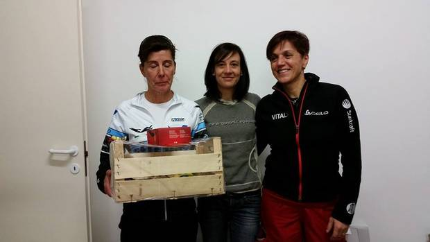 Podio femminile Snow Night Trail Bardonecchia (foto FB Vergura)
