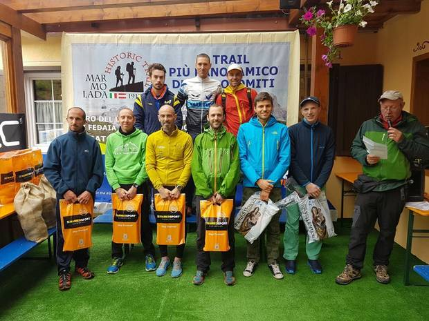 Podio maschile Marmolada Historic Trail 2016