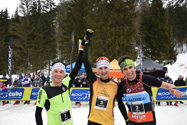 Podio maschile Nortec Winter Trail Tarvisio (foto Valetudo Serim)
