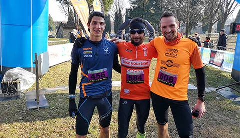 Podio maschile Scaldagambe Winter Trail (foto corona)