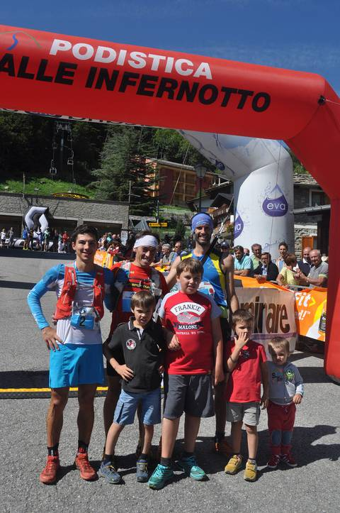 Podio maschile Tour Monviso Trail