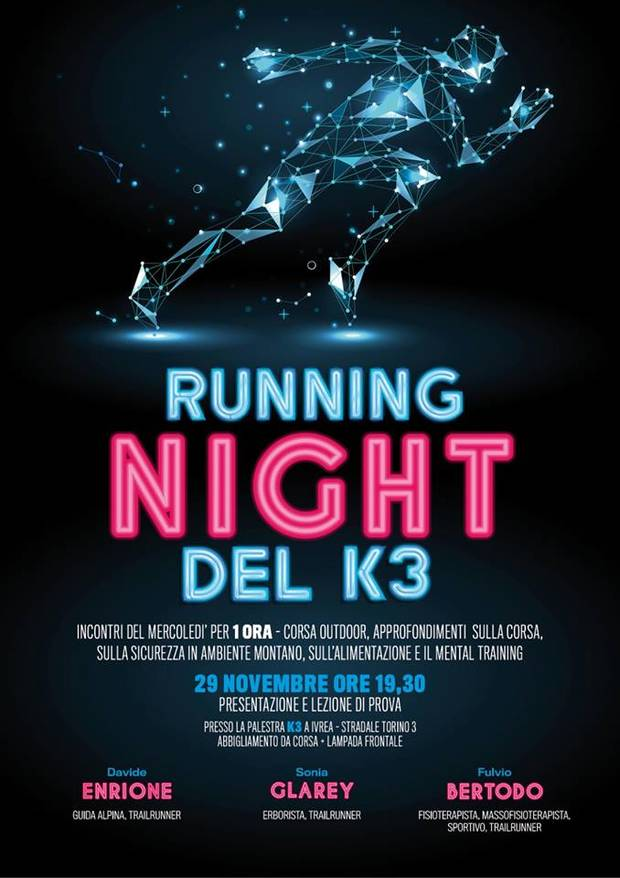 Volantino Running Night del K3